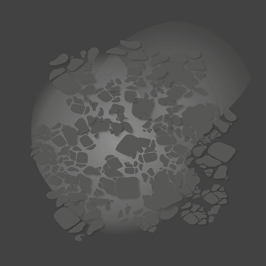 Spielmatte – Felslandschaft