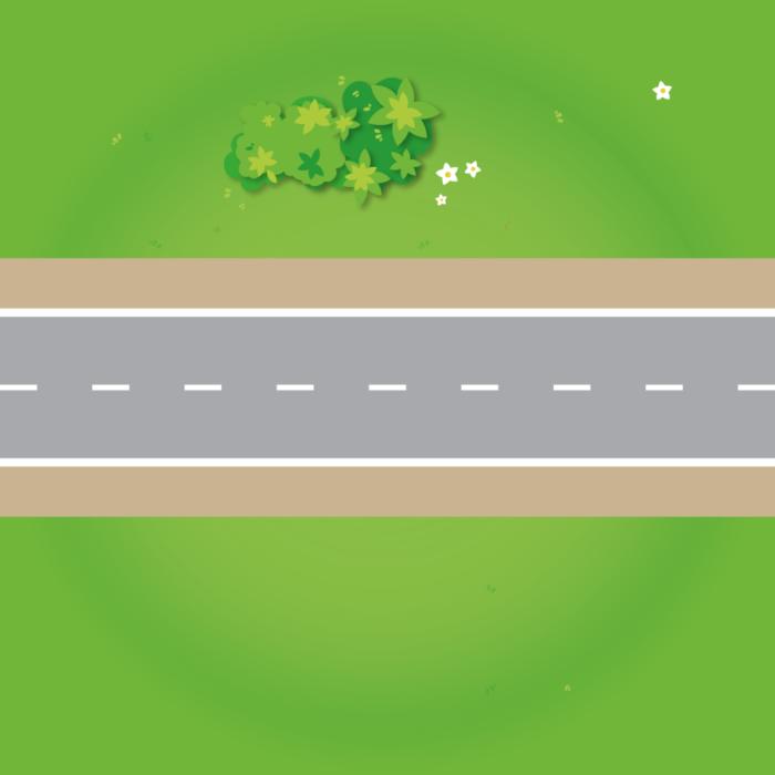Spielmatte – Gerade Straße