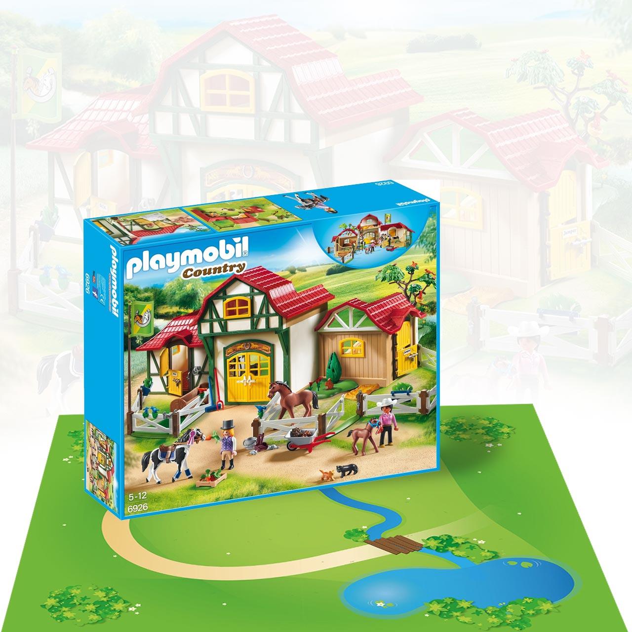 Playmobil Reiterhof inklusive großem Spielmatten-Set
