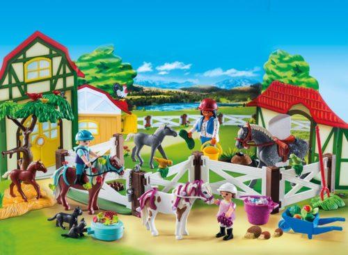 Playmobil Adventskalender Reiterhof 9262 –  inkl. Spielmatte nach Wahl