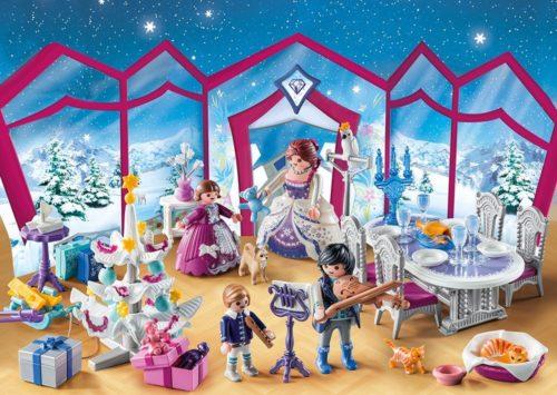Playmobil Adventskalender Weihnachtsball im Kristallsaal 9485 –  inkl. Spielmatte nach Wahl