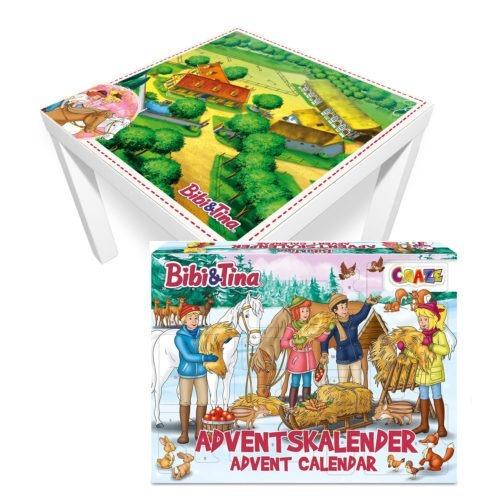 Bibi und Tina Adventskalender –  inkl. Martinshof Spielmatte