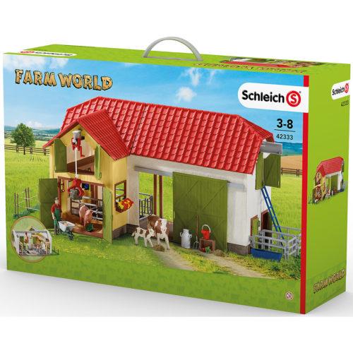 Schleich 42333 – Großer Bauernhof mit Tieren und Zubehör