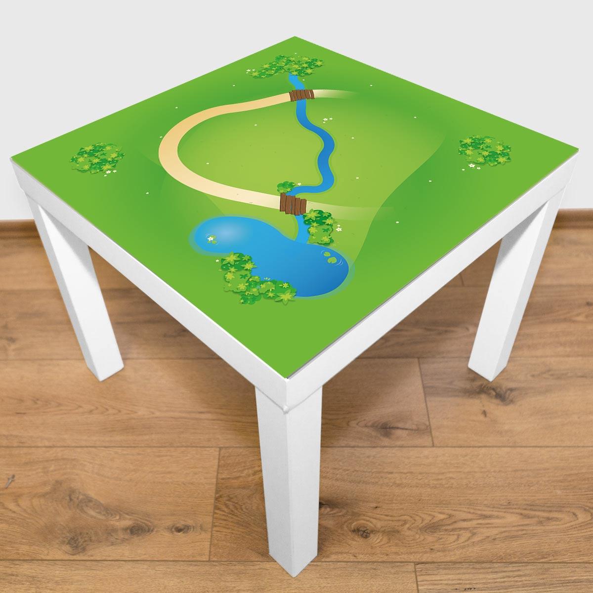 Spielmatte – Kleine Landschaft mit Bach