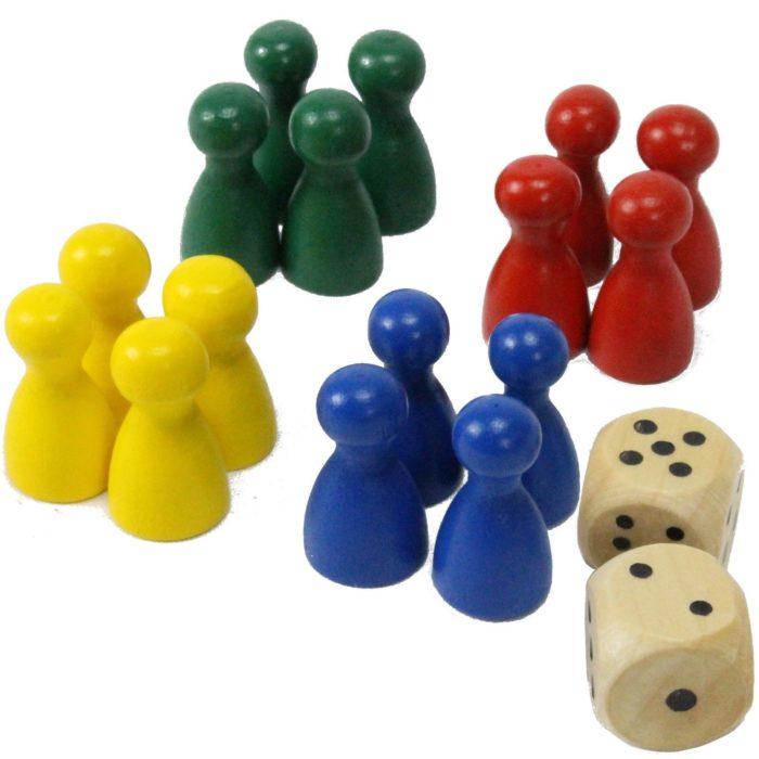 """Spielmatte """"Rausschmeißer"""" Ludo Gesellschaftsspiel"""